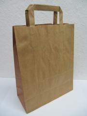 Papiertaschen braun / weiß
