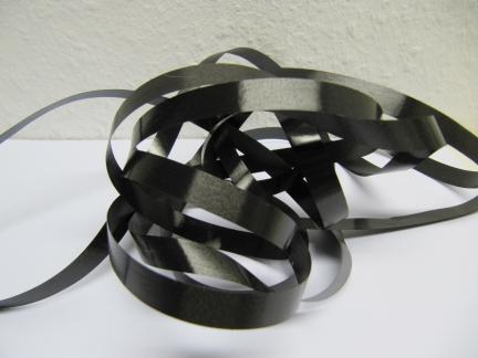 Ringelband / Kräuselband  Schwarz  10mm x 250meter