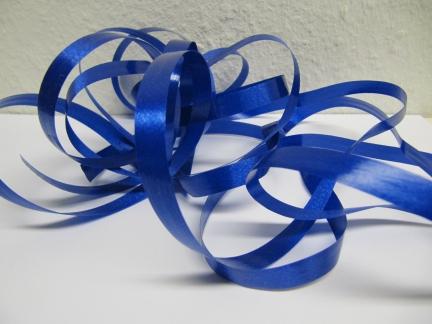 Ringelband / Kräuselband  Königsblau  10mm x 250meter