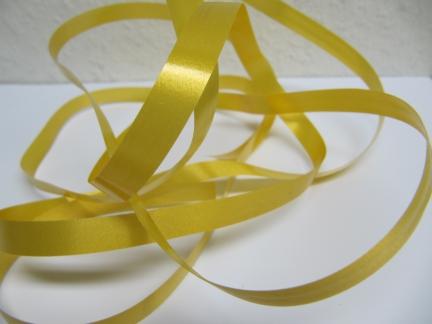 Ringelband / Kräuselband  Gold  10mm x 250meter