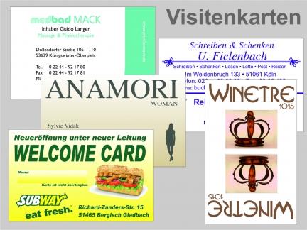Visitenkarten Digitaldruck Matt