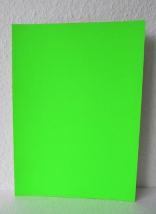A4 Plakatkarton leuchtgrün
