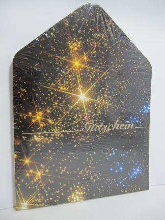 Geschenkgutschein Kuvertkarte Sternenhimmel