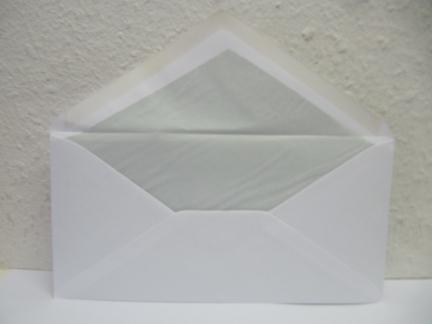 Briefumschläge DIN Lang - weiß mit Seidenfutter