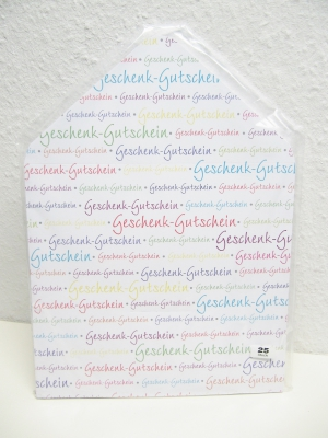 Kuvertkarte bunter Geschenkgutschein