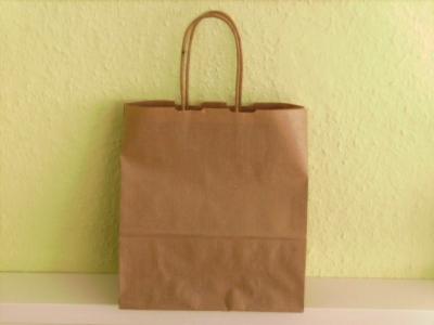 Papiertaschen Braun Papierkordelgriff