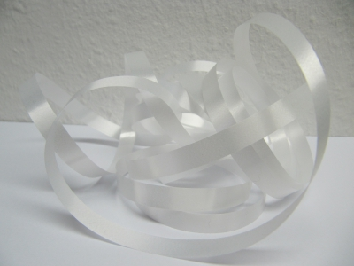 Ringelband / Kräuselband  Weiß  10mm x 250meter