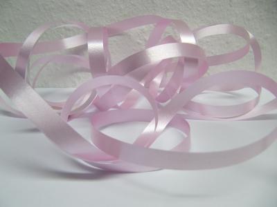 Ringelband / Kräuselband  Rosa  10mm x 250meter