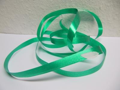 Ringelband / Kräuselband  Grün  10mm x 250meter