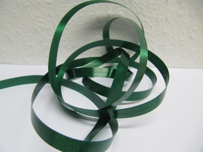 Ringelband / Kräuselband  Tannengrün  10mm x 250meter