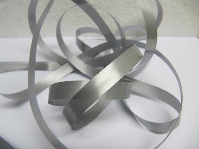 Ringelband / Kräuselband  Silbergrau  10mm x 250meter