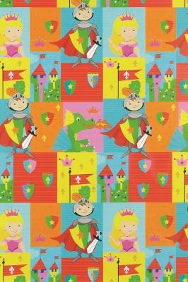 Geschenkpapier Kinder - Ritter, Drache, Prinzessin