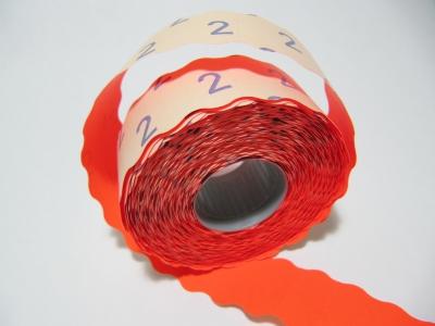 2612 Preisetiketten Leucht-Rot permanent