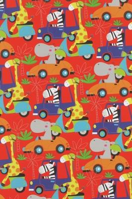 Geschenkpapier Kinderpapier - Autos Tiere Zoo