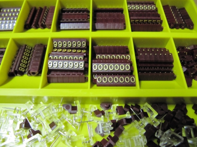 Preisziffern MINI Compact rotbraun/gold 1354 - Box