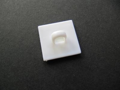 Deckenösen / Klebeknöpfe mit Öse weiß 2x2 cm