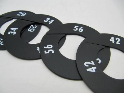 Größenscheiben schwarz 11 cm Ø