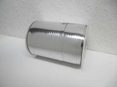 Ringelband / Kräuselband  Metallic Silber