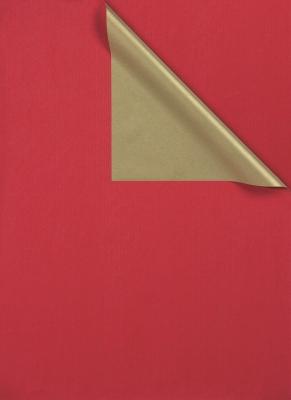 Geschenkpapier  Gold - Karminrot