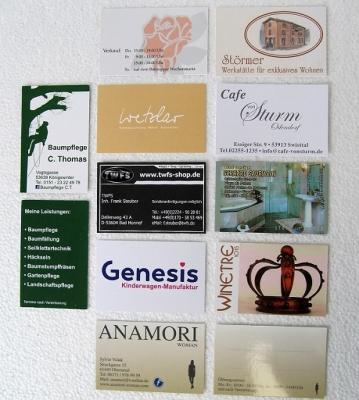 Visitenkarten Digitaldruck Glanz