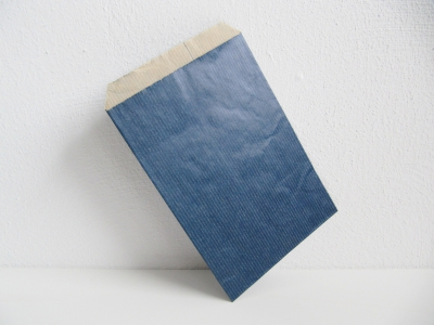Flachbeutel Kraftpapier BLAU - 250 Stück