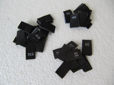 Größenetiketten - Schuhgrößen - schwarz
