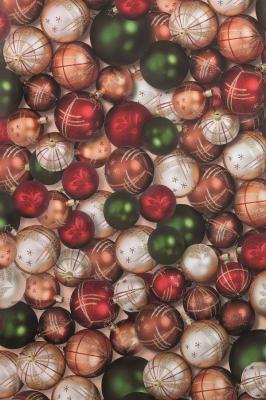 Geschenkpapier Weihnachten - klassisch Christbaumkugeln allover