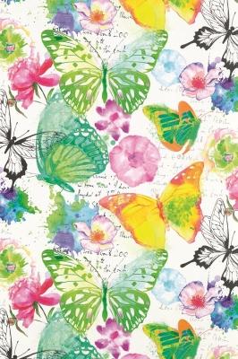 Geschenkpapier Aquarell Schmetterlinge