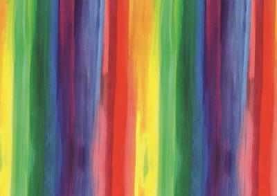 Geschenkpapier Aquarell Regenbogen