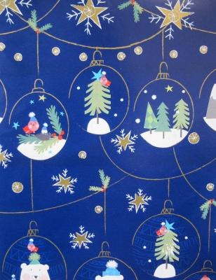 Geschenkpapier Weihnachten - Pudelmütze