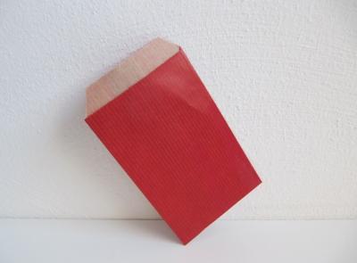 Flachbeutel Kraftpapier ROT - 250 Stück