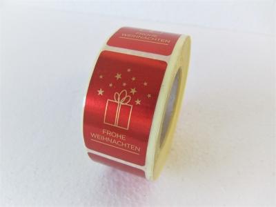 Frohe Weihnachten Klebeetiketten