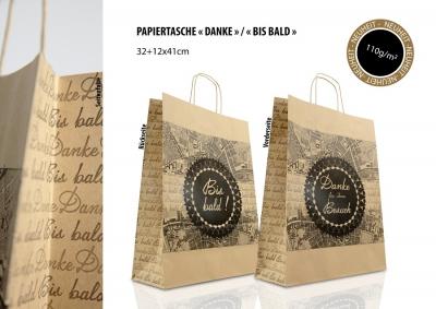 Papiertaschen braun Danke / Bis Bald