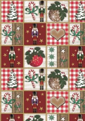 Geschenkpapier Weihnachten Nussknacker