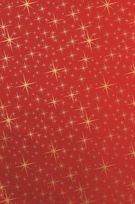 Geschenkpapier Weihnachten Rot - Sterne