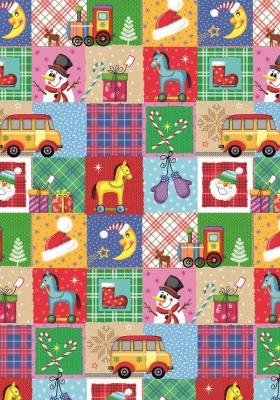 Geschenkpapier Weihnachten - Toys