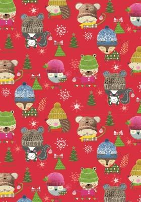 Geschenkpapier Weihnachten - Waldtiere