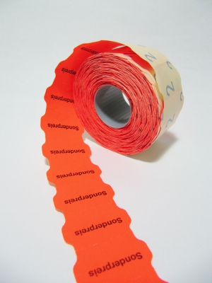 2616 Preisetiketten Sonderpreis mittig Leucht-Rot permanent