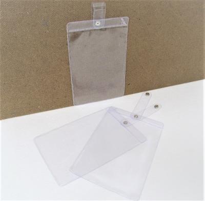 Preisschildtaschen - Etikettentaschen - Etikettenhüllen 155 x 110 mm Druckknopf + Schlaufe