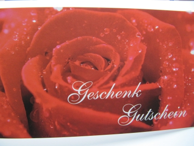 Geschenkgutschein Rose