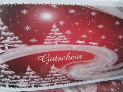 Geschenkgutscheine Weihnachten
