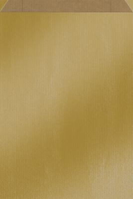 Flachbeutel Kraftpapier GOLD  - 250 Stück