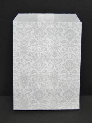 Flachbeutel Geschenkpapiertaschen Motiv / Design  Ornament  weiß