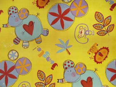 Geschenpapier Kinder - Knuddel Jumbo gelb