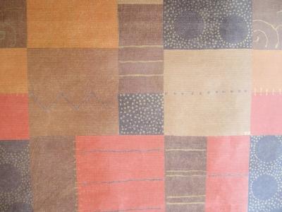 Geschenkpapier Ethno Herbstfarben