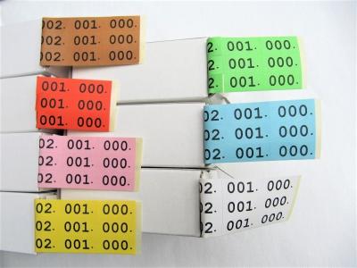 Gleichheitsnummern Schuhgleichheitsnummern Schuhnummern 3.fach farbig