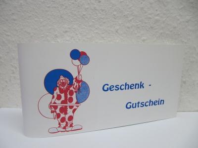 Geschenkgutscheine Clown