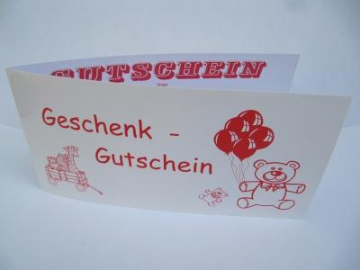 Geschenkgutschein Teddybär rot