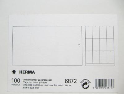 HERMA 6872 Hängeetiketten