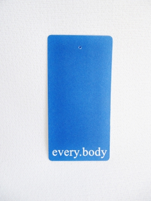 Kartonetiketten blau 35x75 mm